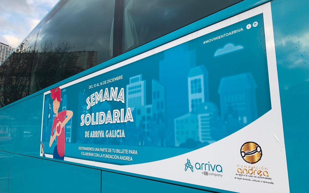 Arriva Galicia colabora con la Fundación Andrea